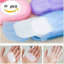20PCS/Set Portable Disposable Hand Washing Tablet Travel Carry Toilet Soap Paper