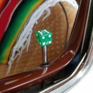 Vintage Clear Green Dice 4 Piece Door Lock Plunger Kit regal classic bel air rwd