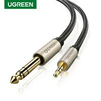 Ugreen 3.5mm to 6.35mm Male to Male Adapter Audio Cable for Amplifier Guitar PC