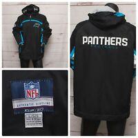 Carolina Panthers Reebok Authentic Sideline Black Full Zip Mens LARGE Jacket NFL