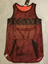 NIKE Air Pivot V3 N7 Men's *sz XS* Mesh Basketball Jersey 853962 010 Crimson