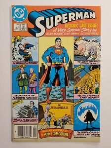 SUPERMAN #423 (VF) 1986 CURT SWAN & GEORGE PEREZ ART! ALAN MOORE STORY