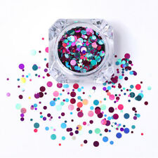 Nail Art Ultrathin Sequins Round Glitters Tips Decoration Mixed Purple Blue #11