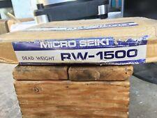 RARE NOS Vintage Micro Seiki RW-1500 Dead Weight Plinth Stabilizer 4 RX-1500!!!!