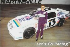 "1993 STACY COMPTON ""TACO BELL LETS GO RACING"" #13 NON NASCAR LATE MODEL POSTCARD"