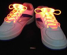 Yellow Coloured LED Bright light up waterproof shoelaces for trainers shoes