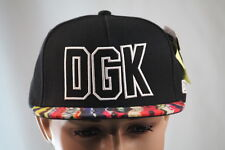 DGK BLACK/GRAY/WHITE MULTI-COLOR FLAT BILL SNAPBACK HAT/BALLCAP