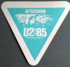 1985 U2 The Unforgettable Fire Backstage Pass Green Aso Tri.