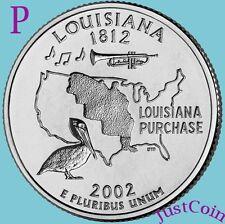 2002-P LOUISIANA STATE (LA) QUARTER UNCIRCULATED FROM US MINT ROLLS