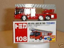 Tomica    HINO AERIAL LADDER FIRE TRUCK  108-D-1