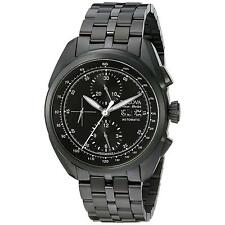 NEW Bulova Accu Swiss Men's 65C116 Tellaro Chronograph Automatic Black Watch