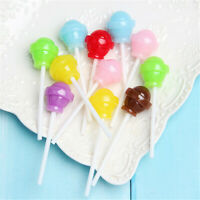20x22x70mm Resin Lollipops Cabochons Many Colours DIY Jewellery Charms 10 pcs