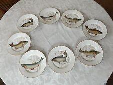 CH Field Haviland Limoges France Set 8 Fish Plates Large Fish Platter Gravy Boat