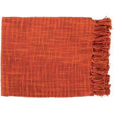 Tori by Surya Throw Blanket, Burnt Orange/Rust - TOR004-4959