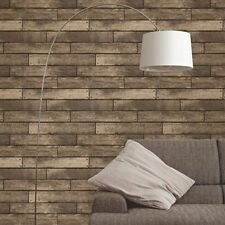 Fine Decor Wooden Plank Wallpaper Brown FD31289