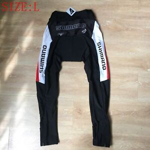 Mens Team Cycle Gel Padded Tights Cycling Pants Trousers Bottoms Clothing Size L