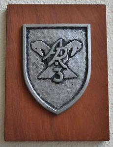 German 3 Artillerieregiment plakette 3rd Artillery Regiment plaque shield crest