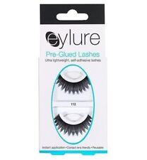 EYLURE PRE-GLUED #112 LASHES ADHESIVE REUSABLE BRIDAL MAKEUP BIG FALSE EYELASHES