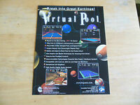 VIRTUAL POOL     ARCADE GAME  FLYER