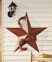 "36"" Metal Barn Texas Star Rustic Tin Country Farmhouse Primitive Americana Decor"