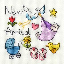 Bothy Threads Cross Stitch Card Kit - New Baby Card