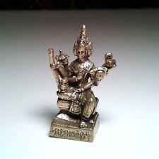 Lord Brahma Hindu God Thai Amulet sacred small brass statue figure idol ganesh