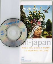 """JOURNEY When You Love A Woman /Message Of Love JAPAN 3"""" CD SINGLE SRDS8326 FreeS"""