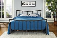Bronze Metal Platform Bed Queen Size Frame Head and Footboard Bedroom Furniture