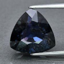 6.77ct 11mm Trillion Natural Unheated Greenish Blue Sapphire, Tanga