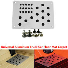 1PCS 220x150mm Aluminum Alloy Car Floor Mat Carpet Plate Foot Pedal Rest & Screw