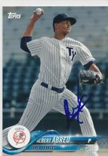 Albert Abreu Tampa Yankees Autographed 2018 Topps Pro Debut Baseball Card #41