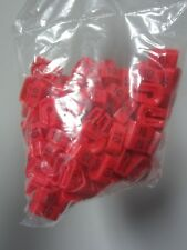 100 ct Hanger Size Garment Markers Red Plastic Tags Size 10 Lot Of Three (3)!
