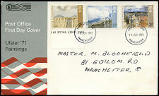 GB FDC 1971 Ulster Paintings, Manchester FDI #C19343