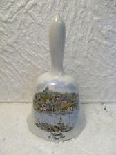 """Clochette de table décorative en porcelaine  : """" Marseille : Le Vieux Port """""""