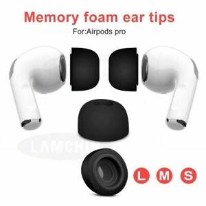 Black Memory Foam Ear Tips Earplugs Earbuds Cover Cap For Apple Airpods Pro