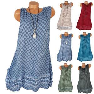 Ladiess Women Mini Dress Oversized Vest Casual Loose Long Vest Short Dresses UK
