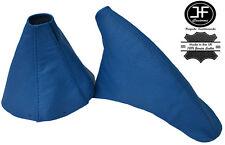 BLUE LEATHER FITS TOYOTA SUPRA MKIV MK4 1993-2002 MANUAL GEAR HANDBRAKE SET