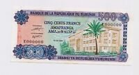 SPECIMEN: BURUNDI  500  FRANCS,  Prefix E  1980  P .34  in UNC condition