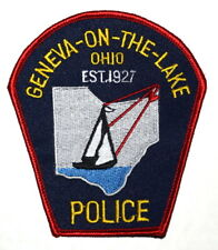 GENEVA ON THE LAKE OHIO OH Sheriff Police Patch SAIL BOAT STATE SHAPE OUTLINE ~