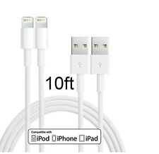 2pack Lightning 8 Pin to USB Power Charge Cable (10-Feet) for iPhone 5 & 6 6+ 7