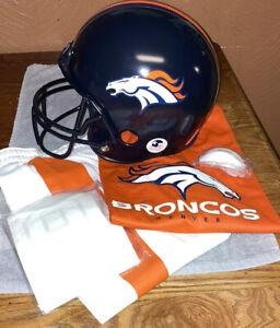 Youth Denver Broncos Franklin Sports Helmet, Jersey And Pants Set NIB Ages 5-9.