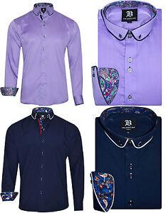 """Men's Formal Shirt Men Italian Stylish Dress Designer Casual Shirts 14.5"""" to 18"""""""