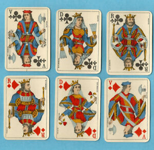 Ancien jeu de cartes de Patience de 1900 B.P. GRIMAUD