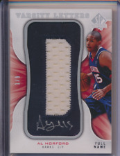 AL HORFORD 2008 09 SP AUTHENTIC VARSITY LETTER PATCH AUTO 1/9