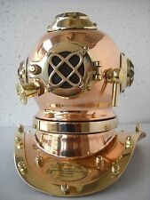 Mark Iv. U.S. Navy Mini Diving Helmet Deep Sea Divers Helmet Copper & Brass 7'