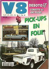 V8 MAGAZINE 16 CHEVROLET PICK UP APACHE 1959 5.7L 320CH CADILLAC ELDORADO BROUGH