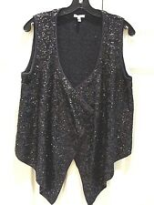 JOIE WOMEN VEST SPARKLE BEADS SIZE M UNIQUIE