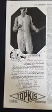 1920 TOPKIS men's athletic one piece underwear vintage fashion ad