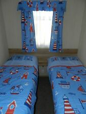 static caravan curtains blackout lined + duvet covers many designs - twin rm