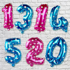 Silver Gold Numbers Letters Foil Balloons Birthday Anniversary Party Decoration